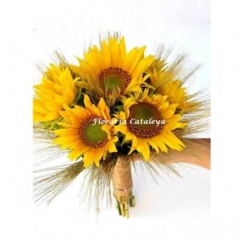 Buchet Cununie Cu Floarea Soarelui